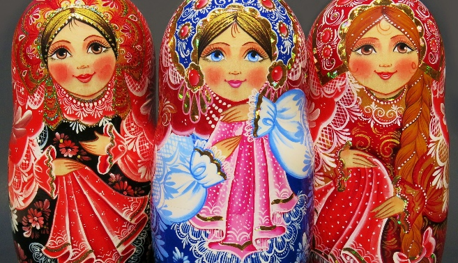 Handmade Russian babushka nesting dolls for sale
