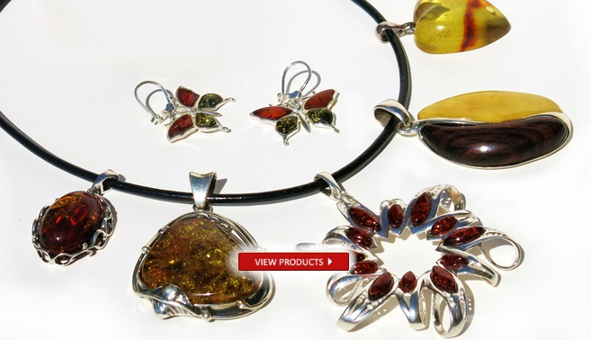 Baltic Amber Necklaces, Pendants, Earrings Collection