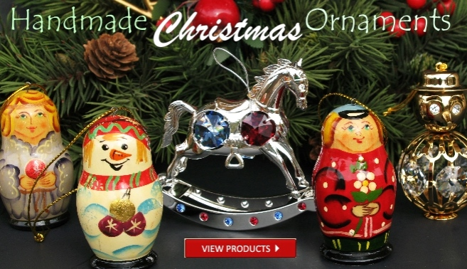 Handmade Russian Christmas tree ornaments and Home Decor