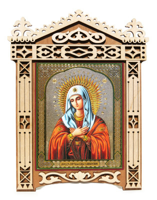 Holly Mary Large Framed Orthodox Russian Icon