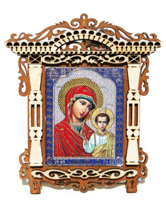 Mary and Jesus Small Framed Orthodox Russian Icon