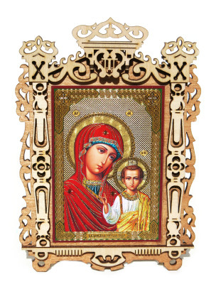 Mary and Jesus Medium Framed Orthodox Russian Icon