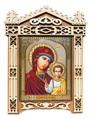 Mary and Jesus Large Framed Orthodox Russian Icon