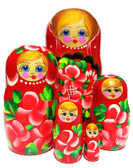 Anastasia Red 5 Piece Nesting Doll