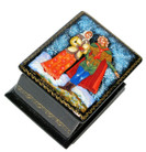 April Palekh Miniature Lacquer Box