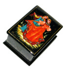 Dancers Palekh Miniature Lacquer Box