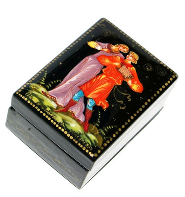 Young Couple Palekh Miniature Lacquer Box