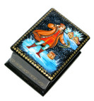 At the Pike's Behest Palekh lacquer box