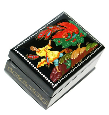 Fairytale Palekh Miniature Lacquer Box