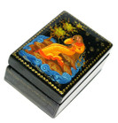 Goldilocks Palekh Miniature Lacquer Box