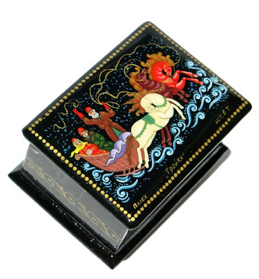 Troyka Palekh Miniature Lacquer Box