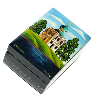 Savior's Church Miniature Fedoskino Lacquer Box