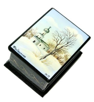 Spring Miniature Fedoskino Lacquer Box