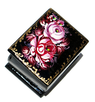 Burgundy Roses Miniature Souvenir Box
