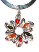 Elizabeth Baltic Amber Silver Pendant