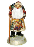 Children Hand Carved Wooden Santa