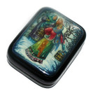"""Fedoskino Lacquer Box """"New Girl"""" Top"""