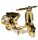 Motor Scooter Swarovski Crystals 24K Gold Ornament