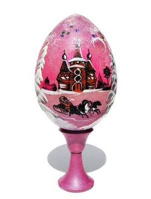 "Souvenir Egg ""Christmas Night"" 2-Piece Set In Pink"