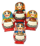 "Refrigerator Magnet ""Russian Babushka"" In Red"