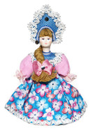 "Russian Porcelain Costume Doll ""Margarita"" Small"