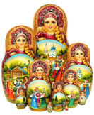 10-pc Bachelor Russian matryoshka doll