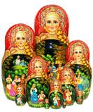 10 pc Kalinka style matryoshka doll