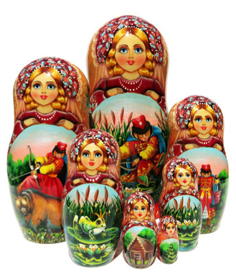 Frog Princess 7 Piece Nesting Doll