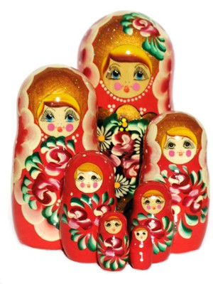 "Russian Nesting Dolls ""Rosanna"" 7-Piece Set (Main View)"