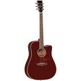 Tanglewood TW5WR Winterleaf Dreadnought C/E Burgundy Red
