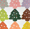 Christmas Stickers - Multi-colored Trees