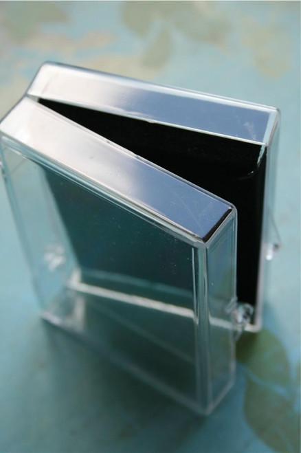 Medium Clear Acrylic Boxes - Clamshell