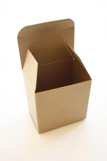 Brown Kraft Boxes DIY - Perfect with Twine or Deco Tape - Packaging - 3 x 2 x 3 Inches