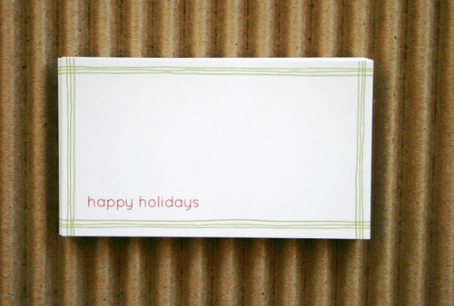 Packaging and Gift Stickers - 2 x 3.5 Matte Finish - Red Green Holiday Labels