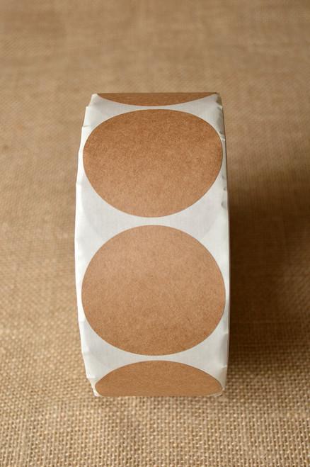 Sticker - Round Brown Kraft  -  Sizes 1.5 to 3.5 inch