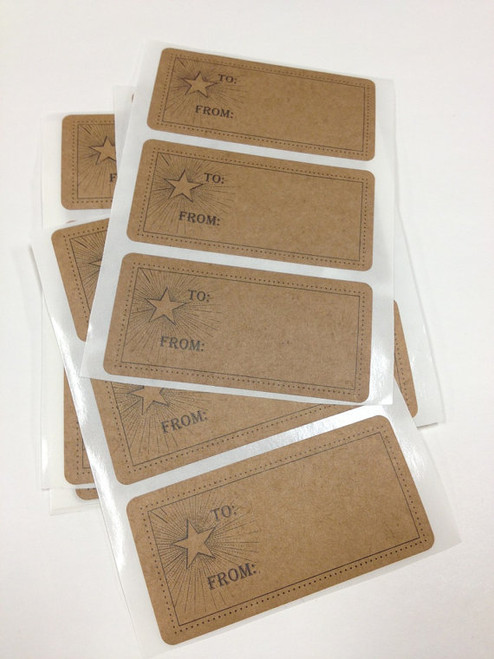 Packaging and Gift Stickers - 3 x 1.5 inch To/From Holiday Labels