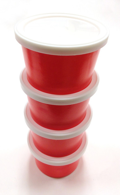 Flat Plastic Lids for 4 Ounce Ice Cream Cups - Fits All Colors