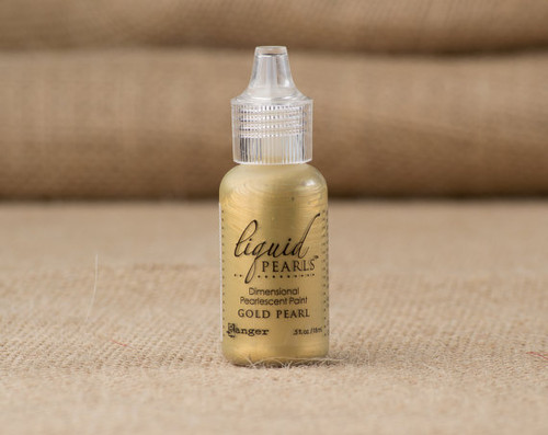 Tim Holtz Ranger Liquid Pearl Paints - Gold Pearl