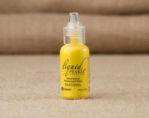 Tim Holtz Ranger Liquid Pearl Paints - Daffodil
