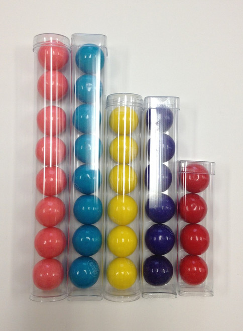 FDA Clear Plastic 6 Inch Square Gumball or Candy Favor Tubes