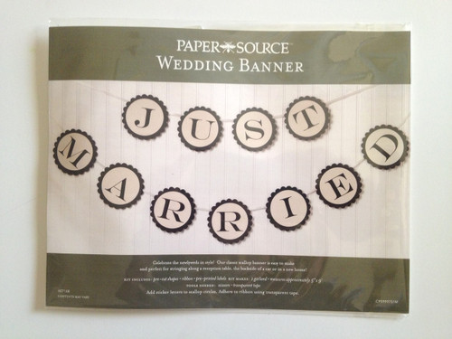 Just Married Garland Kit