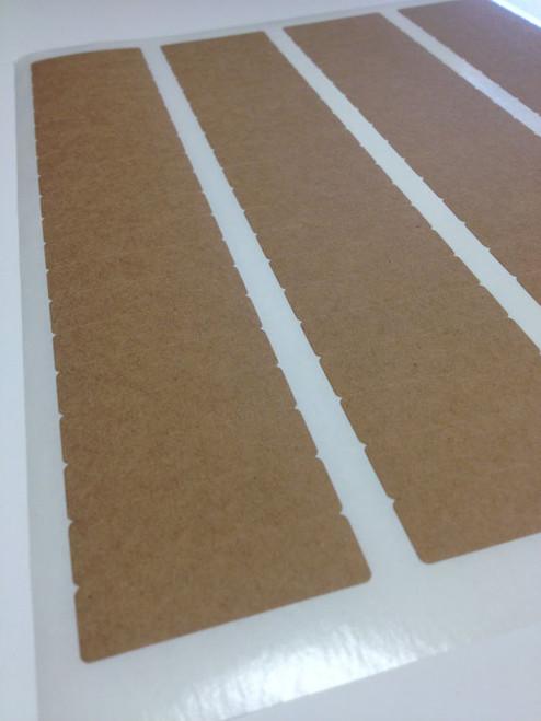 Rectangular Brown Kraft Labels - .5 x 1.75 Inch Rectangle Shape Sheet Labels for Laserjet or Inkjet Printing