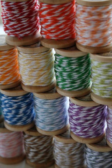 Full Color Set - Baker's Twine on 5 Yard Wooden Spools - 120 Yards Total - 24 Color Set