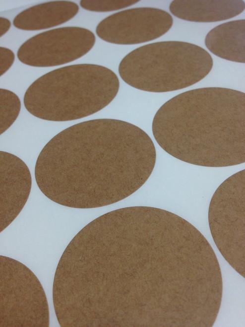 Round Brown Kraft Labels - 2 Inch Round Sheet Labels for Laserjet or Inkjet Printing