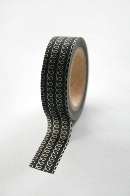 Washi Tape - 15mm - Black Loop - No. 84