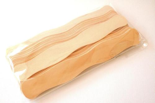 Wavy Wooden Fan Handles or Fan Sticks - Natural Wood