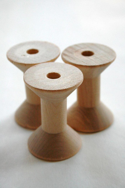 Medium Wooden Spools - Natural Wood Thread Spools