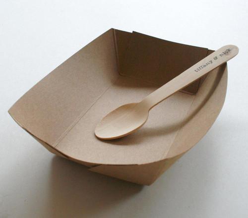 Brown Kraft Paper Serving Trays - Biodegradable