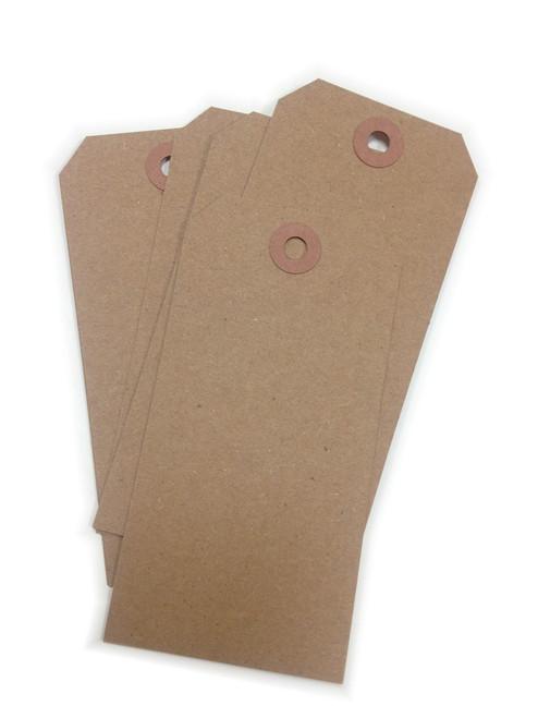Large Shipping Paper Tags - Brown Bag Kraft Hang Tags - 2 3/8 x 4 3/4