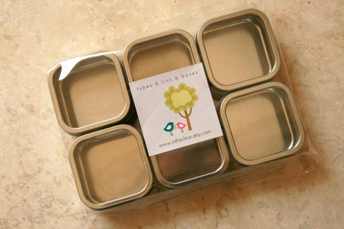 Square Window Tins - 2 x 2 x 1 - Perfect for Wedding Favors